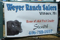 Weyer Ranch Salers Pen Show Sign